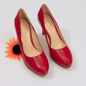 EUC Cole Haan Niki Air Red Patent Leather Heels
